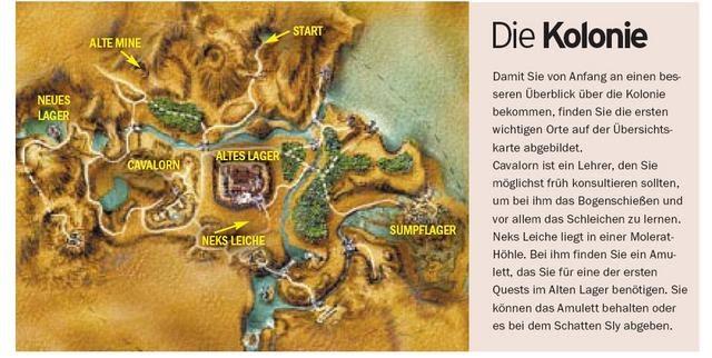 Gothic 1 Karte | Karte