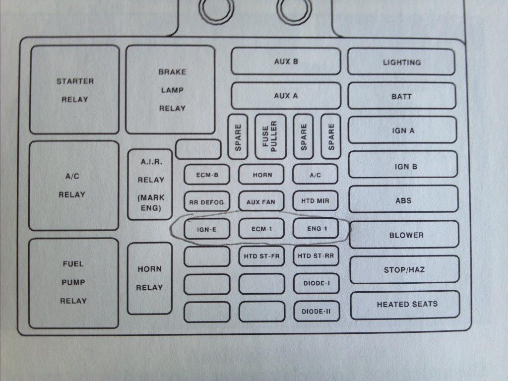 Fuse Diagram 2003 Chevy 1500