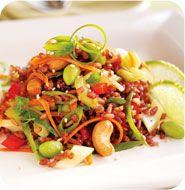 Asian Japonica Rice Salad with Edamame #glutenfree #antiinflammatory #dairyfree #vegan #vegetarian