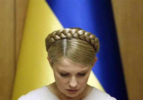 Ukraine's Prime Minister and presidential candidate Yulia Tymoshenko chairs a cabinet meeting in Kiev in this February 11, 2010 file photo. REUTERS-Gleb Garanich-Files