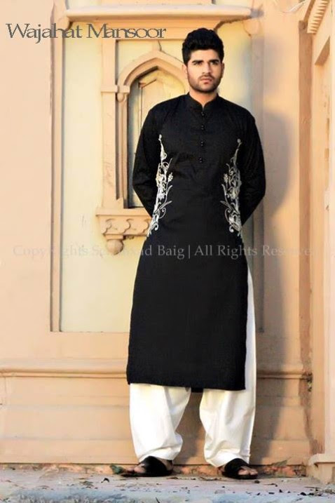 Wajahat-Mansoor-Latest-Summer-Eid-Kurta-Pajama-Salwar-Kameez-Collection-2013-Mens-Boys-7