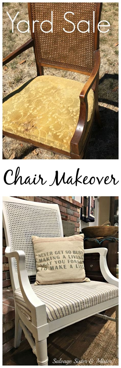 room challenge yard sale chair makeover projects