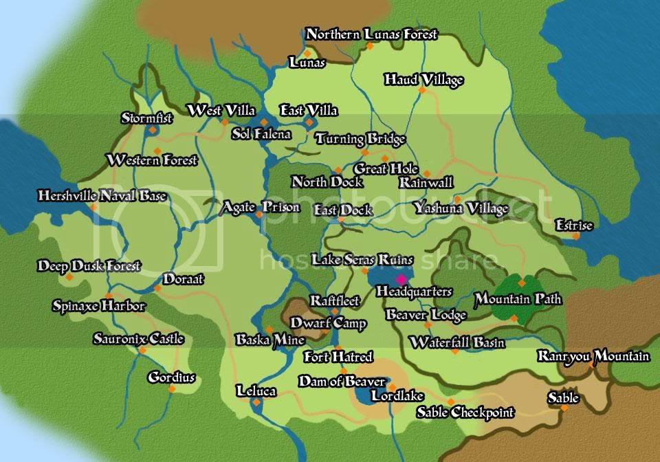 Map North East: Suikoden 5 World Map