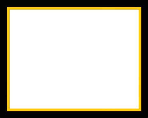 yellow border frame transparent png