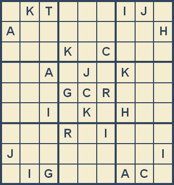 Mystery Godoku Puzzle for July 28, 2008