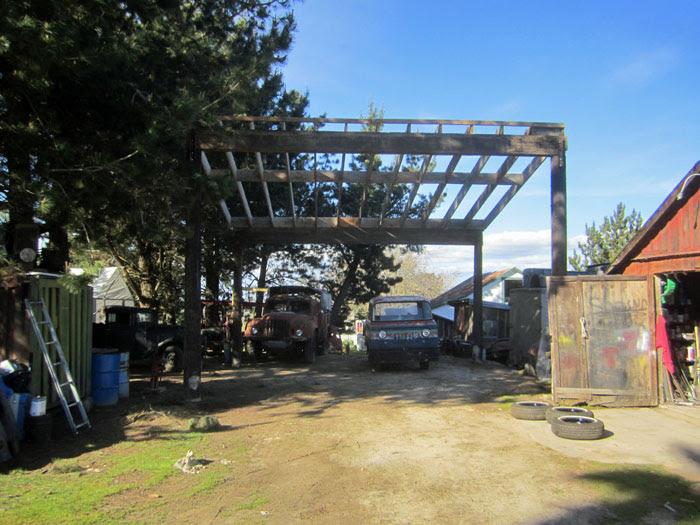 FrankenBarn Roof Half Framed