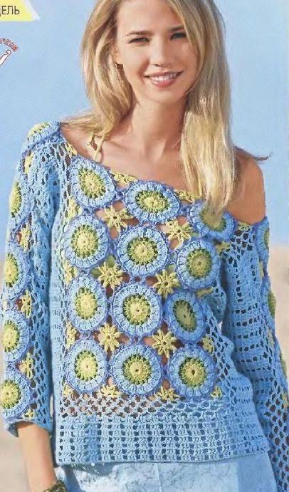 tunique bleue ciel à motifs