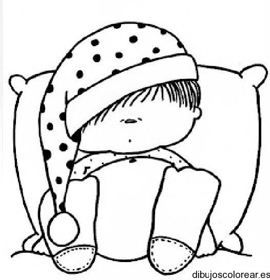 Dibujo De Niño Durmiendo