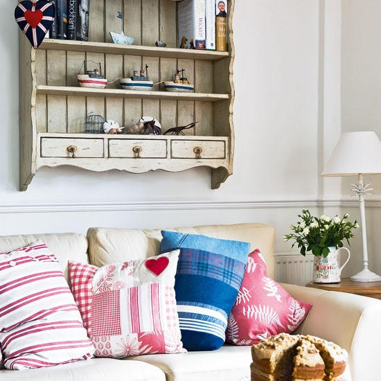 Country living room seating   Living room design   Cream sofa   Image   Housetohome