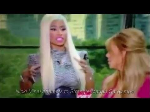 nicki minaj vuole strangolare mariah carey ad american idol: video