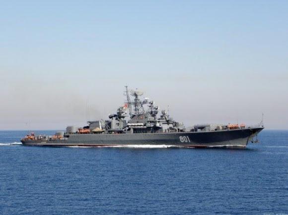 barco de guerra ruso