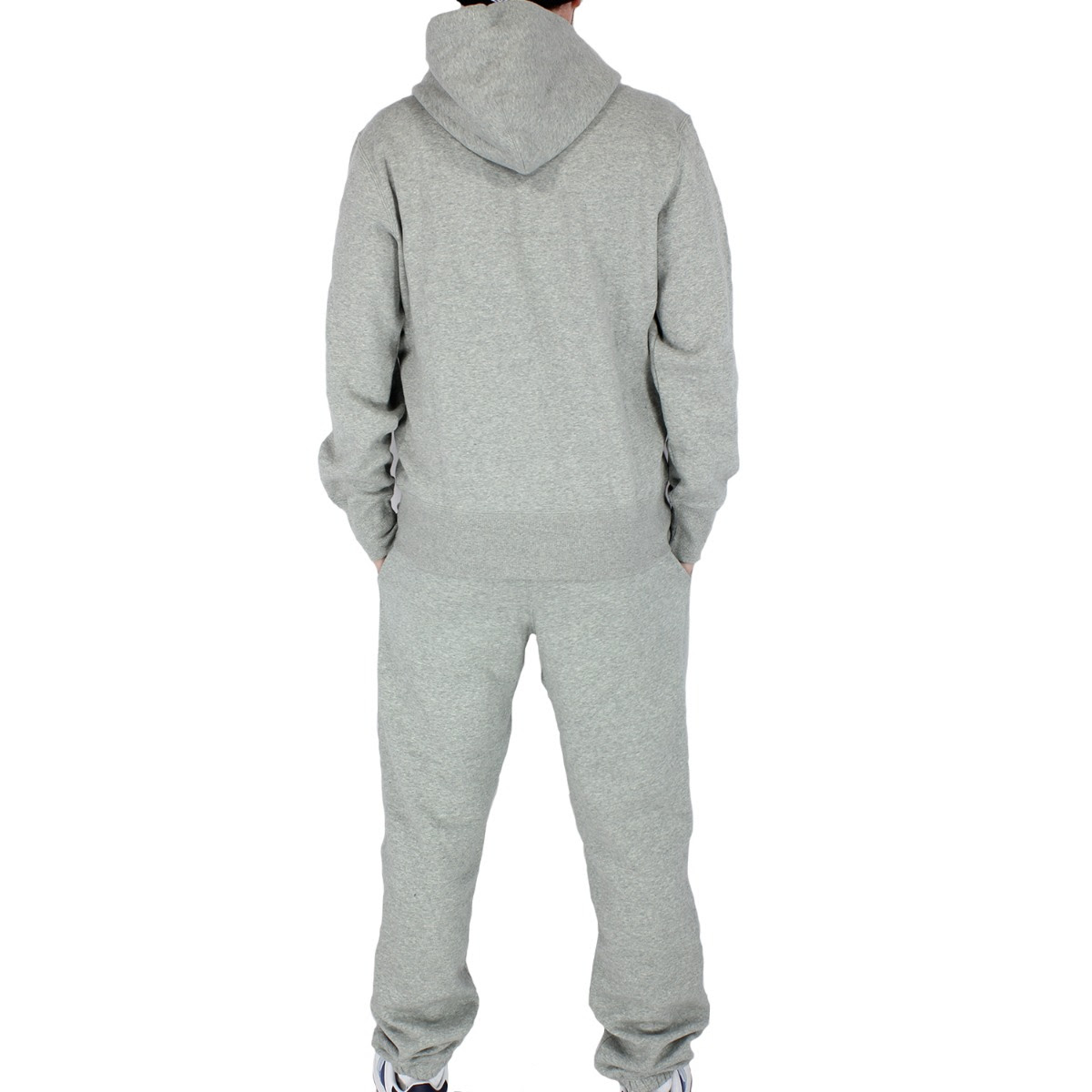 nike mens size s m l xl fleece full tracksuit light grey
