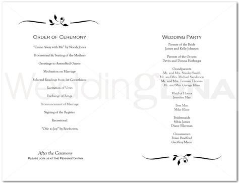 Wedding ceremony program clipart PNG and cliparts for Free