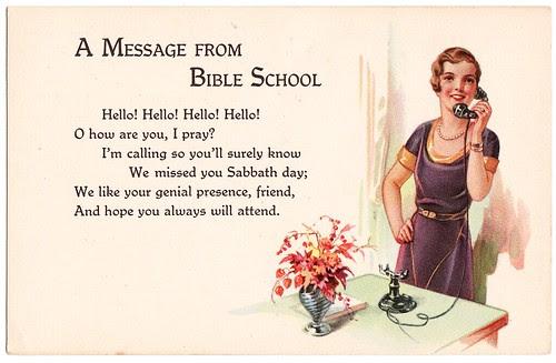 bible school postcard