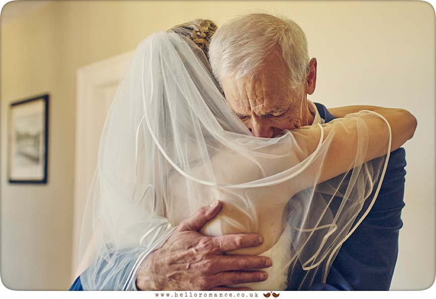The wonderful moment that Bride sees her father - www.helloromance.co.uk