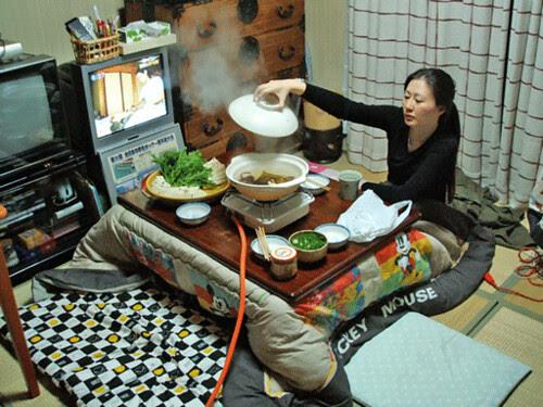yucca s'occupe du yudofu sous le kotatsu by bimboAuJapon