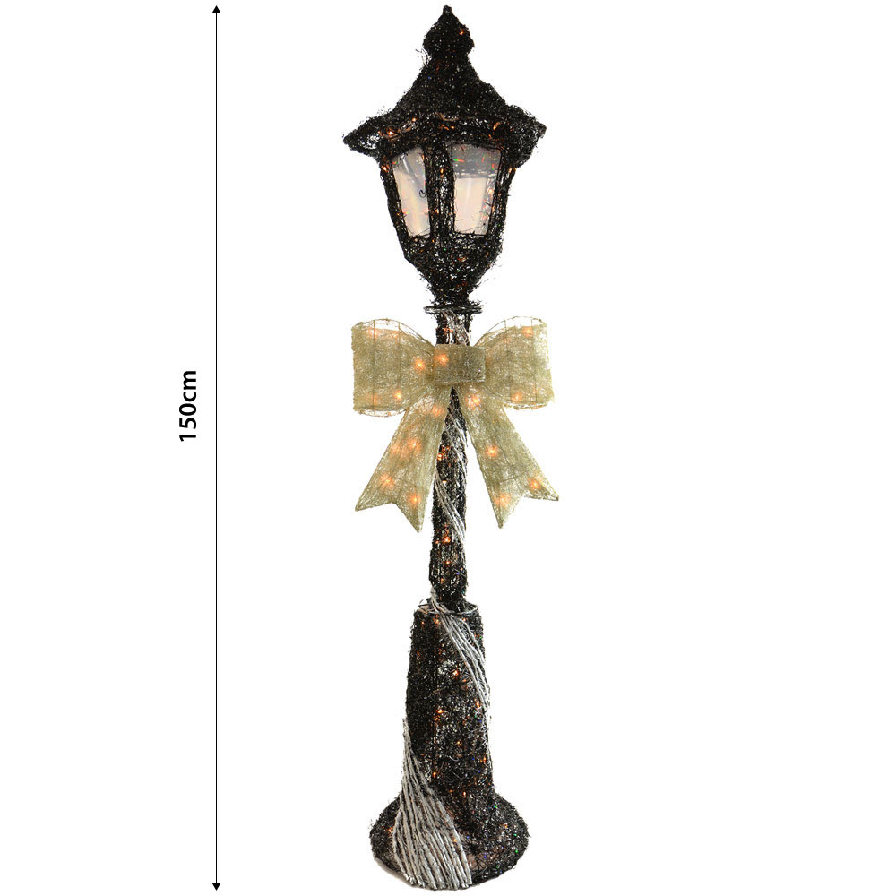 ... & Sliver Sparkly Rattan 150cm Lamp Post Christmas Decoration | eBay