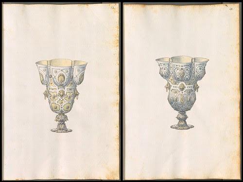 sketch designs for metal drinking vessels