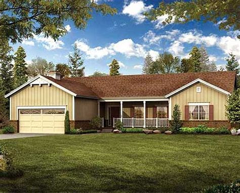 simple  build ranch home plan  architectural