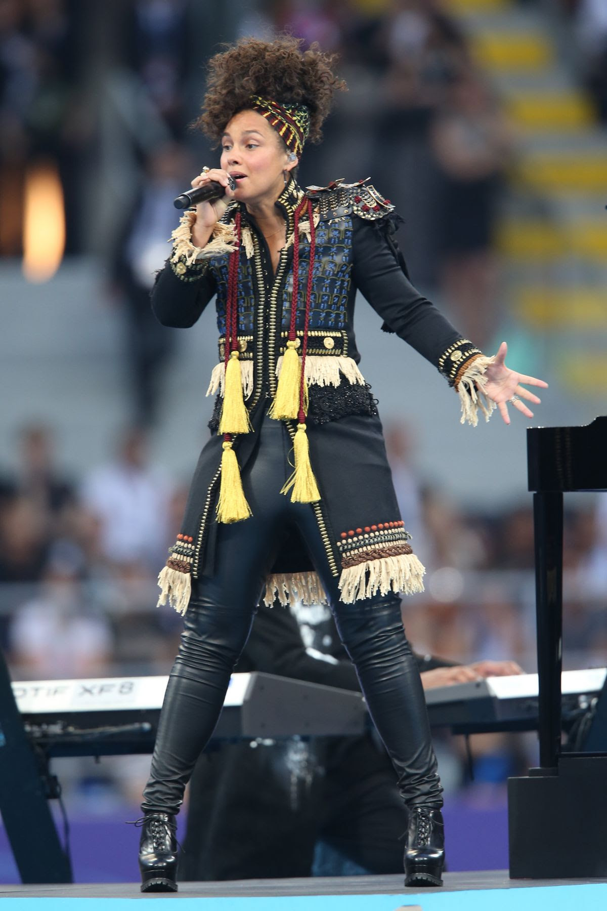 ALICIA KEYS Performs at UEFA Champions League Final Match in Milan 05/28/2016