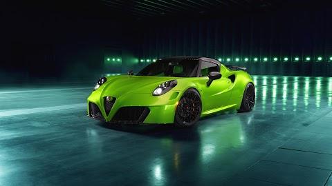 Green Alfa Romeo Giulia Quadrifoglio