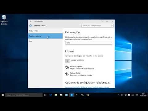 Cambiare lingua a windows 10