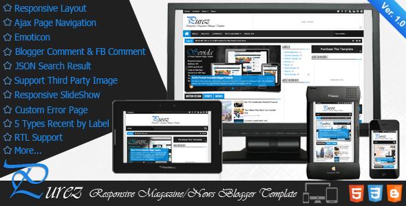 Purez Premium Responsive Blogger Template Free Download ~ Free ...