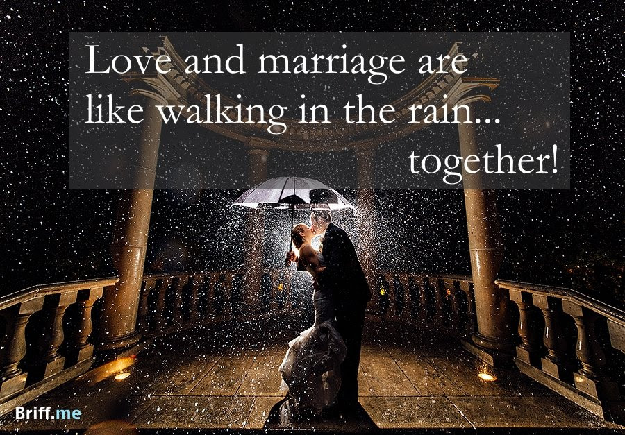 Best Wedding Quotes About Love Rain And Laughter