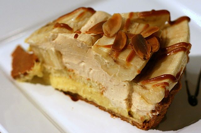 Caramel Banana Fruit Tart