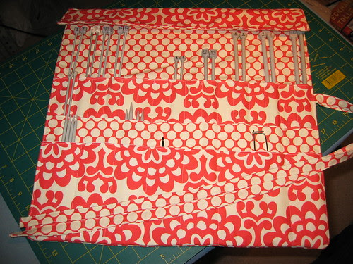 Knitting Needle Roll by BlueberryGabs