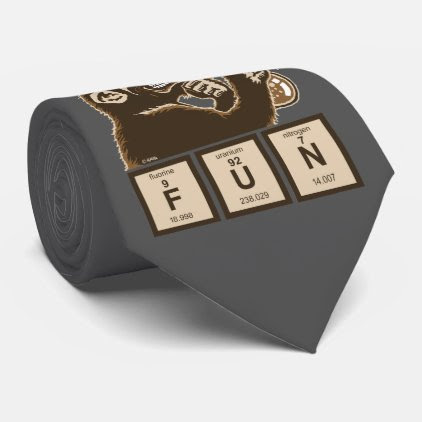 Chemistry monkey discovered fun neck tie