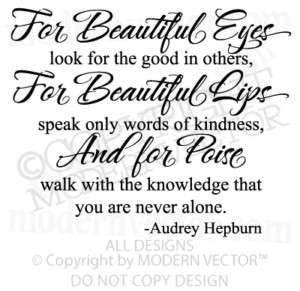 Audrey Hepburn Quote Best Thing Vinyl Wall Decalwords