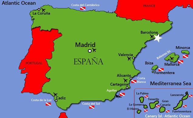 Resultado de imagen de mapa ciudad de barcelona españa