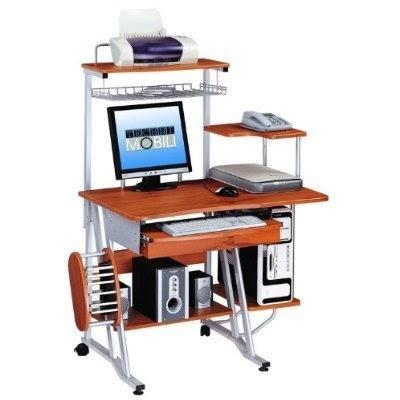 Anarysis Honey Computer Desk Tower Cart Woodgrain Best