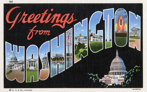 Greetings from Washington, DC - Large Letter Postcard