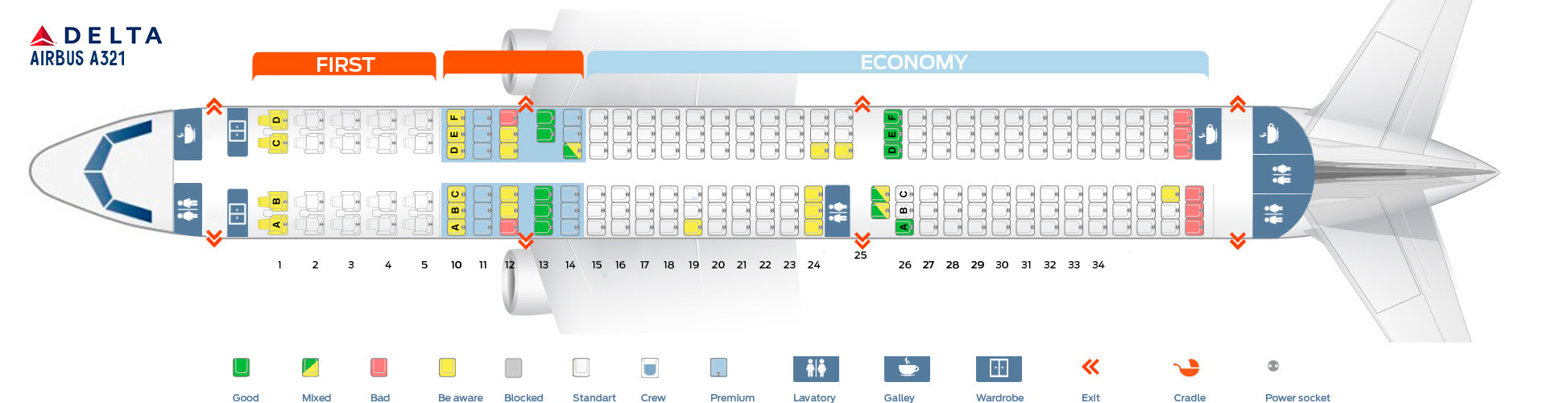 Airbus A321 Seating Chart Gallery Of
