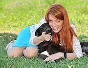 Michela Brambilla e Teddy Boy appena adottato