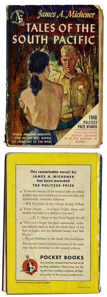 South Pacific paperback_1950_tatteredandlost