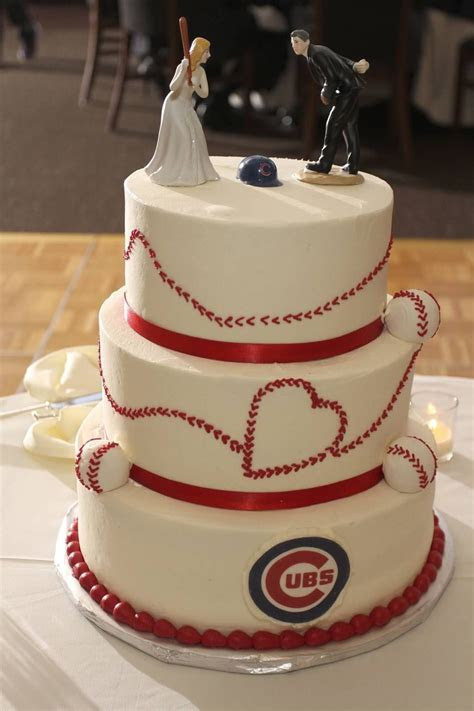 Chicago Cubs Baseball Wedding Cake   Chicago Cubs