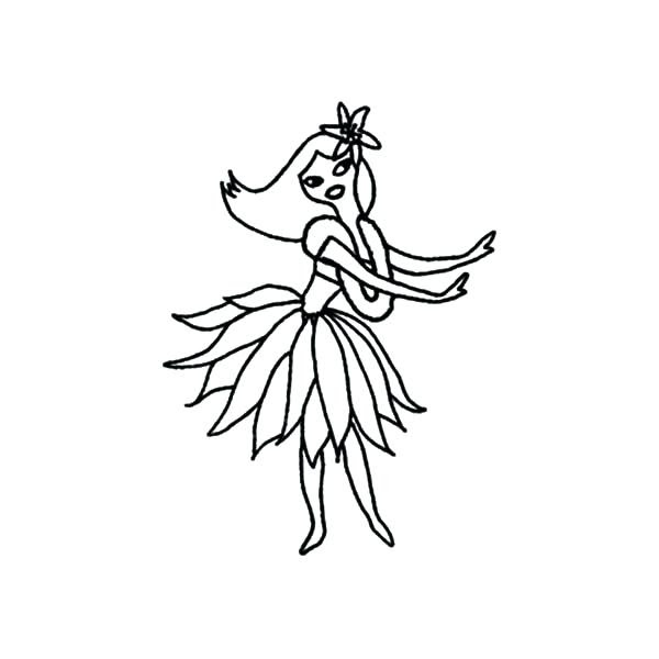 600 Top Coloring Pages Hula Girl For Free