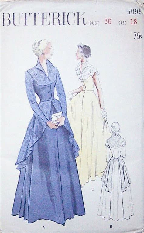 rare vintage evening gown sewing patterns  size  ebay