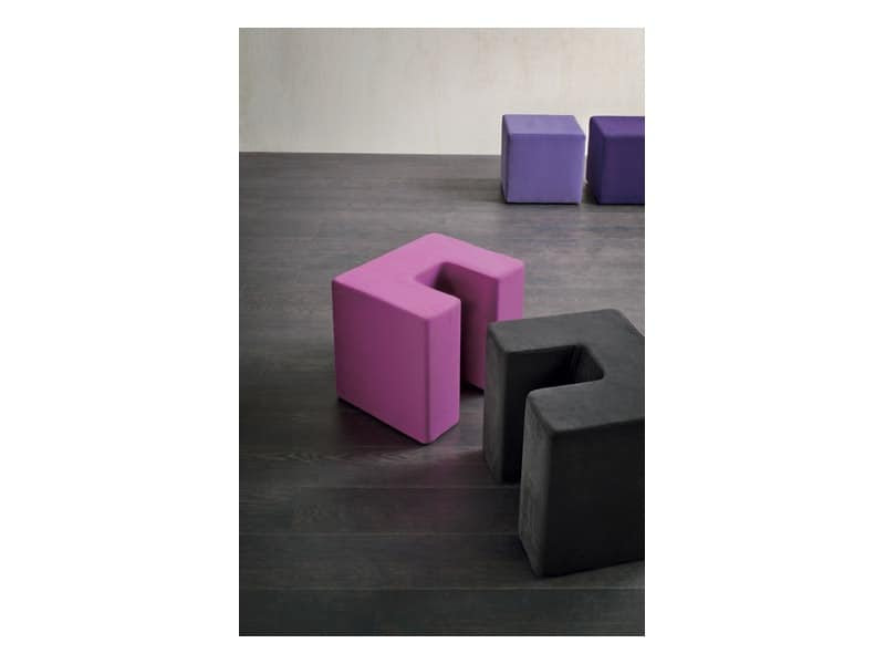 TWIN SQUARE by Della Valentina Office Spa - Upholstered seat ...
