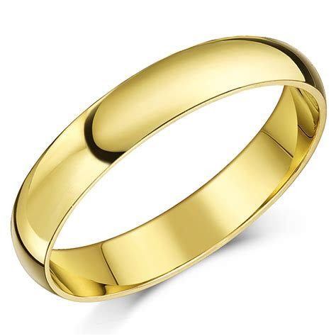 "18ct Yellow Gold ""D Shaped"" Wedding Ring   D Shape at Elma"
