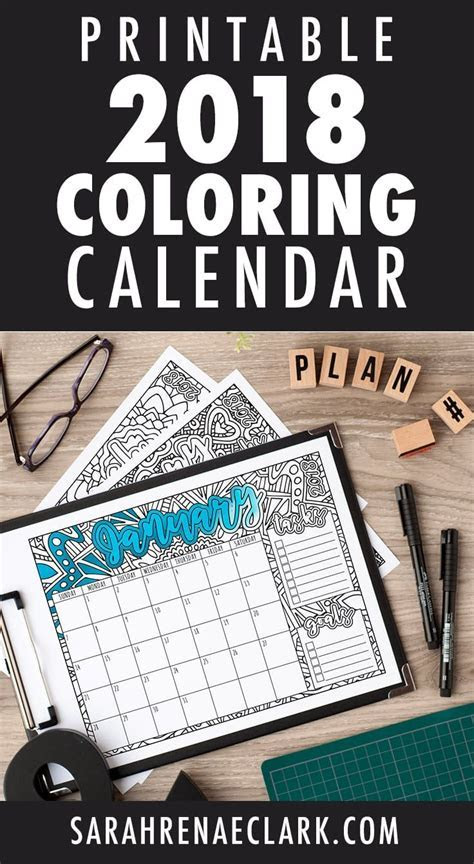 23 best DIY: Printable 2018 Calendars images on Pinterest