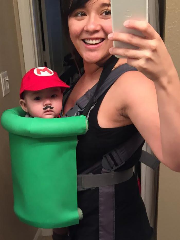Super Mario Baby Carrier Costume