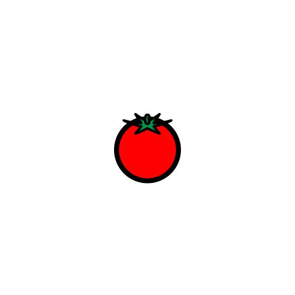 かわいいミニトマトの無料イラスト商用フリー オイデ43