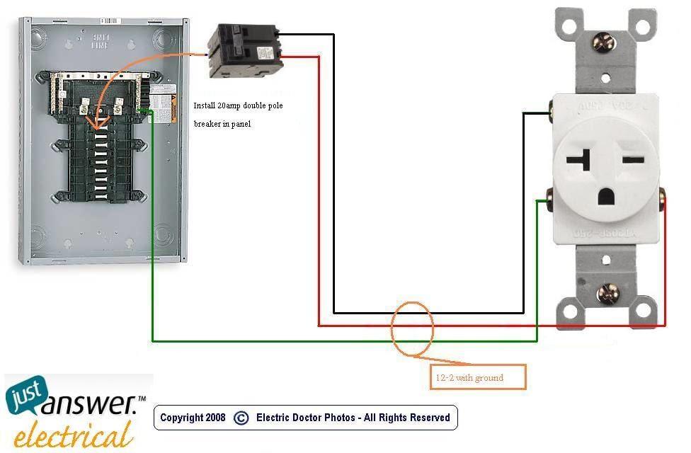 20 Amp 230 Volt Receptacle Wiring Wiring Generator To Fuse Box Podewiring Yenpancane Jeanjaures37 Fr