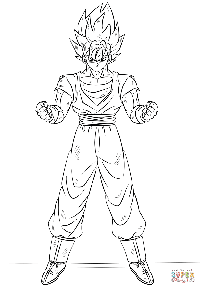 Ssj4 Goku Coloring Pages At Getcoloringscom Free Printable