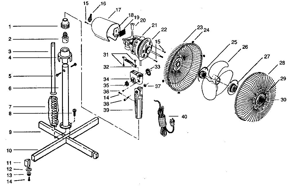 Hunter fan white 42, stand fan parts diagram, fun online ...