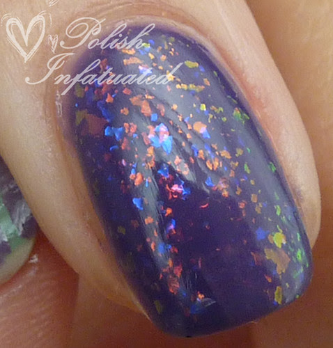 purple&green nail art mash4